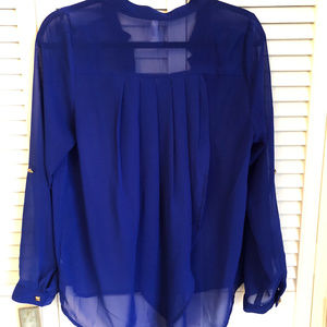 Royal Blue Sheer Top